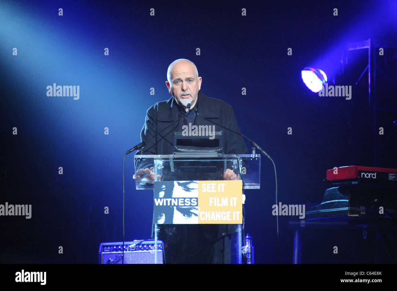 Peter Gabriel in attendance for WITNESS 6th Annual Focus for Change: Benefit Dinner and Concert, Roseland Ballroom, Stock Photo