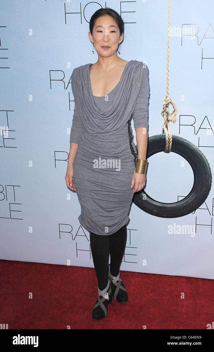 Sandra Oh at arrivals for RABBIT HOLE Premiere, The Paris Theatre, New York, NY December 2, 2010. Photo By: Kristin - Stock Image