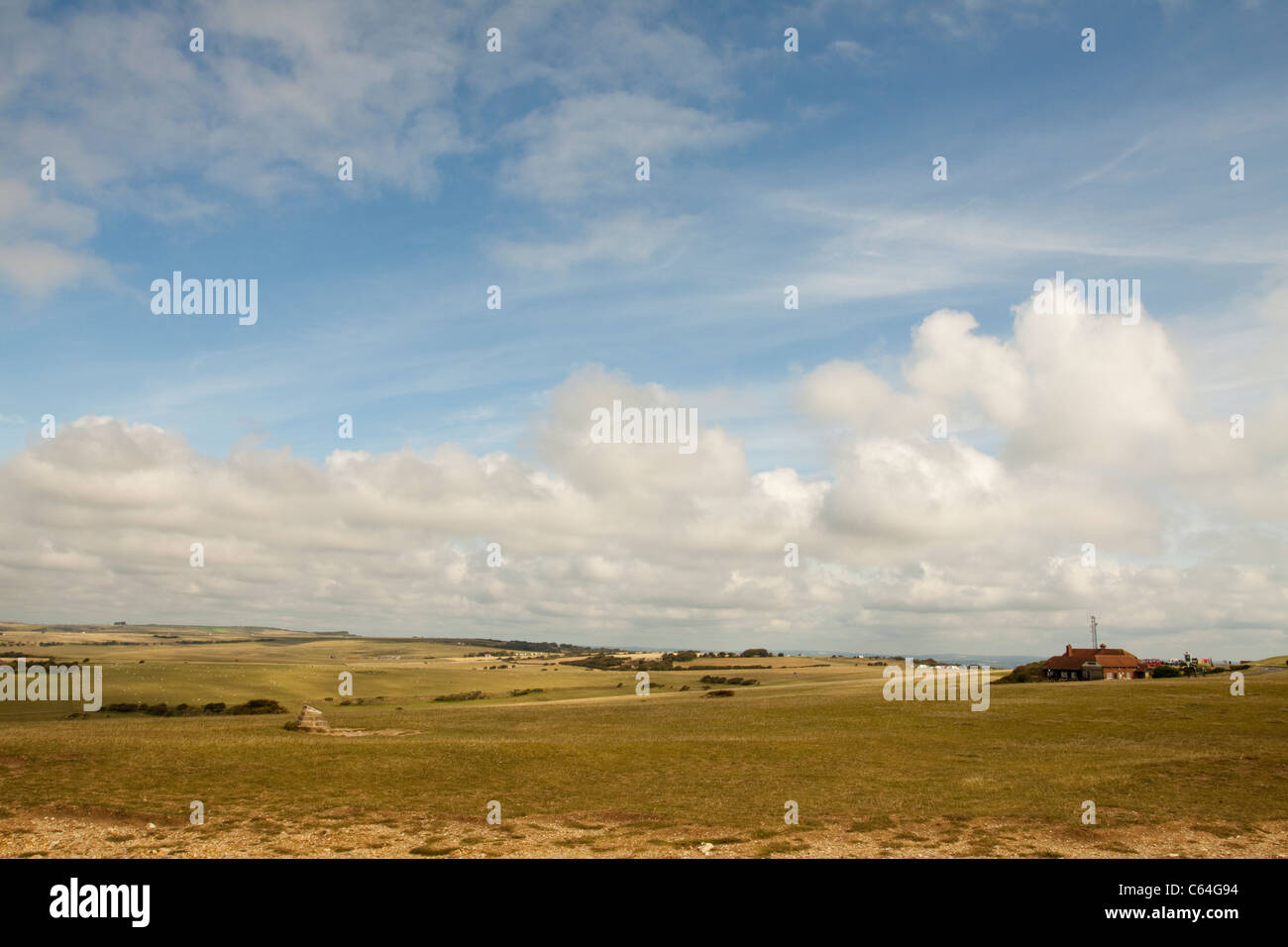 Landscape over Beachy Head, East Sussex, England, UK - Stock Image