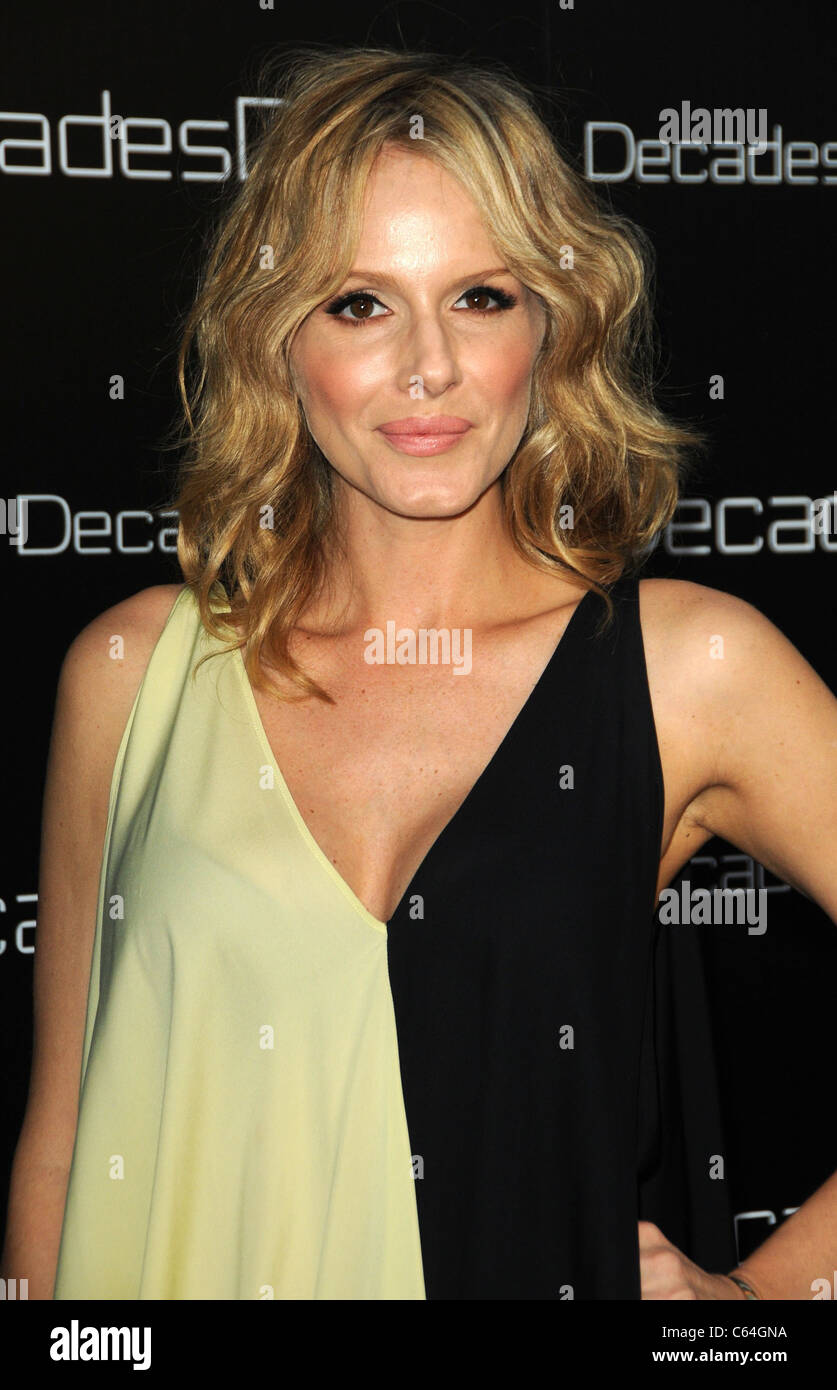 Monet Mazur at arrivals for Decades Denim Launch Party, home of Julia Sorkin, Beverly Hills, CA November 2, 2010. - Stock Image