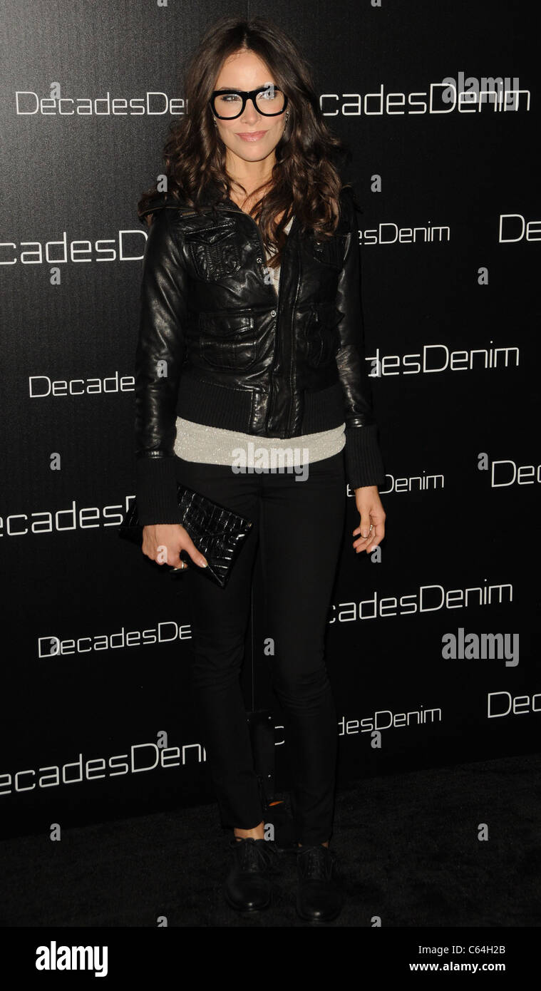 Abigall Spencer at arrivals for Decades Denim Launch Party, home of Julia Sorkin, Beverly Hills, CA November 2, - Stock Image
