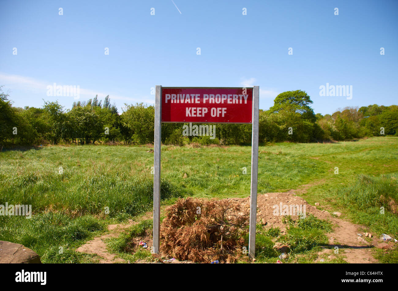 Keep off sign. Stock Photo
