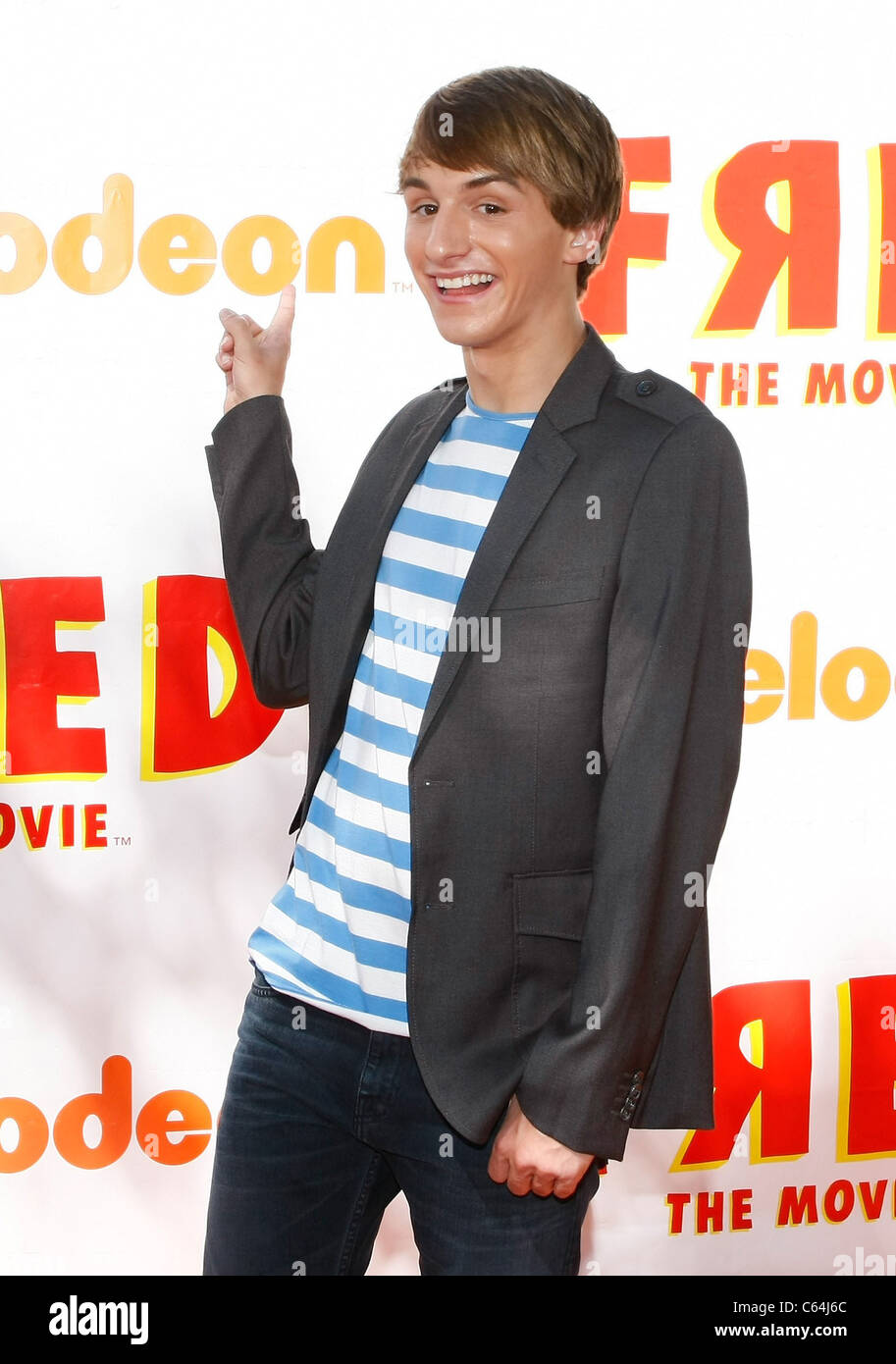 Lucas Cruikshank at arrivals for FRED: THE MOVIE Premiere, Paramount Theatre, Los Angeles, CA September 11, 2010. - Stock Image