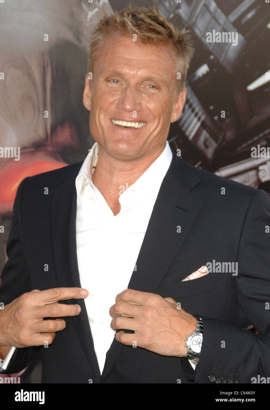 Dolph Lundgren at arrivals for THE EXPENDABLES Premiere, Grauman's Chinese Theatre, Los Angeles, CA August 3, - Stock Image