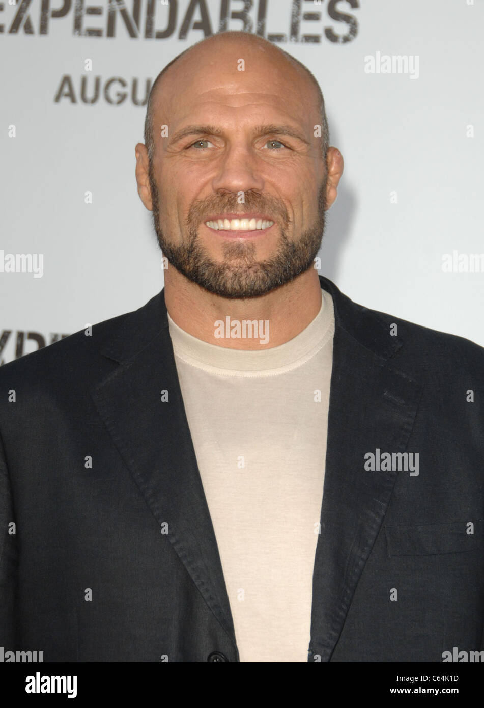 Randy Couture at arrivals for THE EXPENDABLES Premiere, Grauman's Chinese Theatre, Los Angeles, CA August 3, 2010. Stock Photo