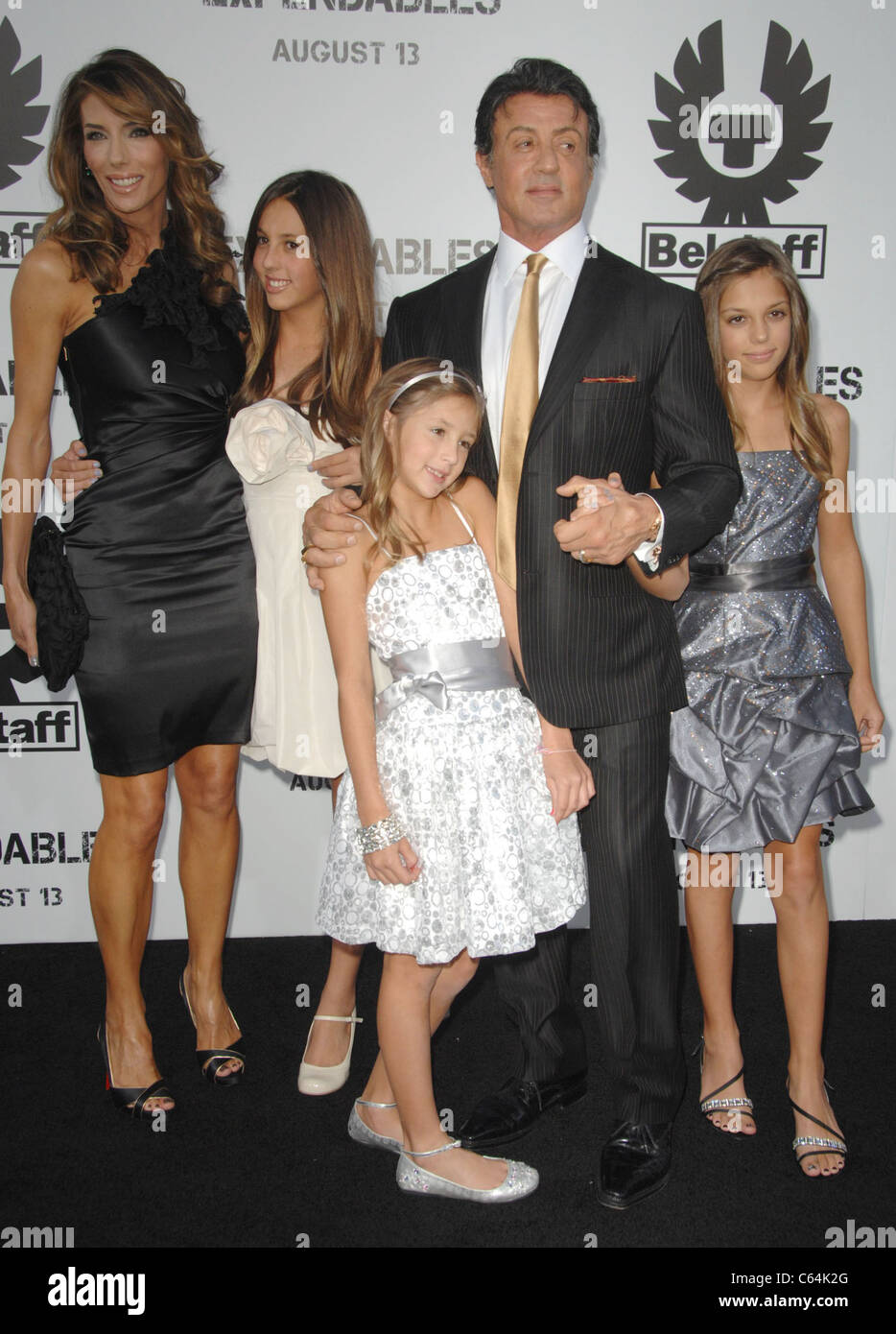 Sylvester Stallone, Family at arrivals for THE EXPENDABLES ...