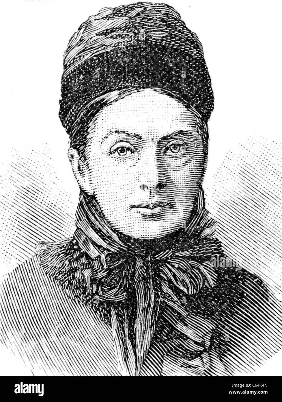 ISABELLA BIRD (1831-1904) English explorer and natural history writer - Stock Image