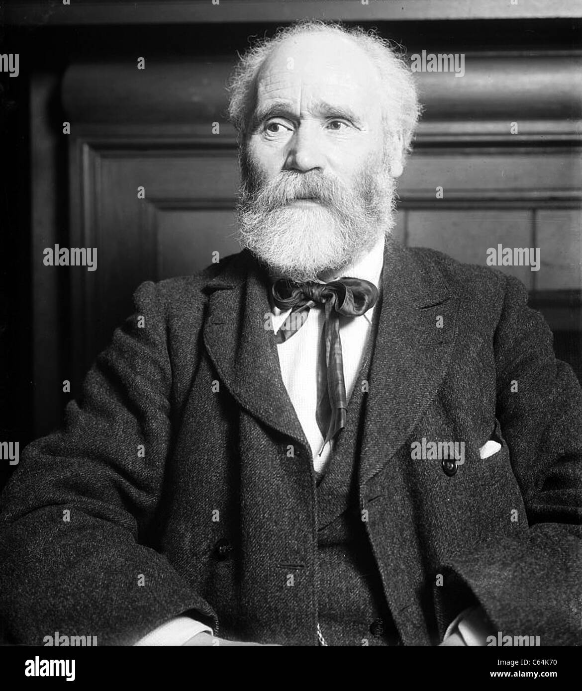 KEIR HARDIE (1856-1915) Scottish socialist leader and one of the founders of the modern British Labour Party here - Stock Image