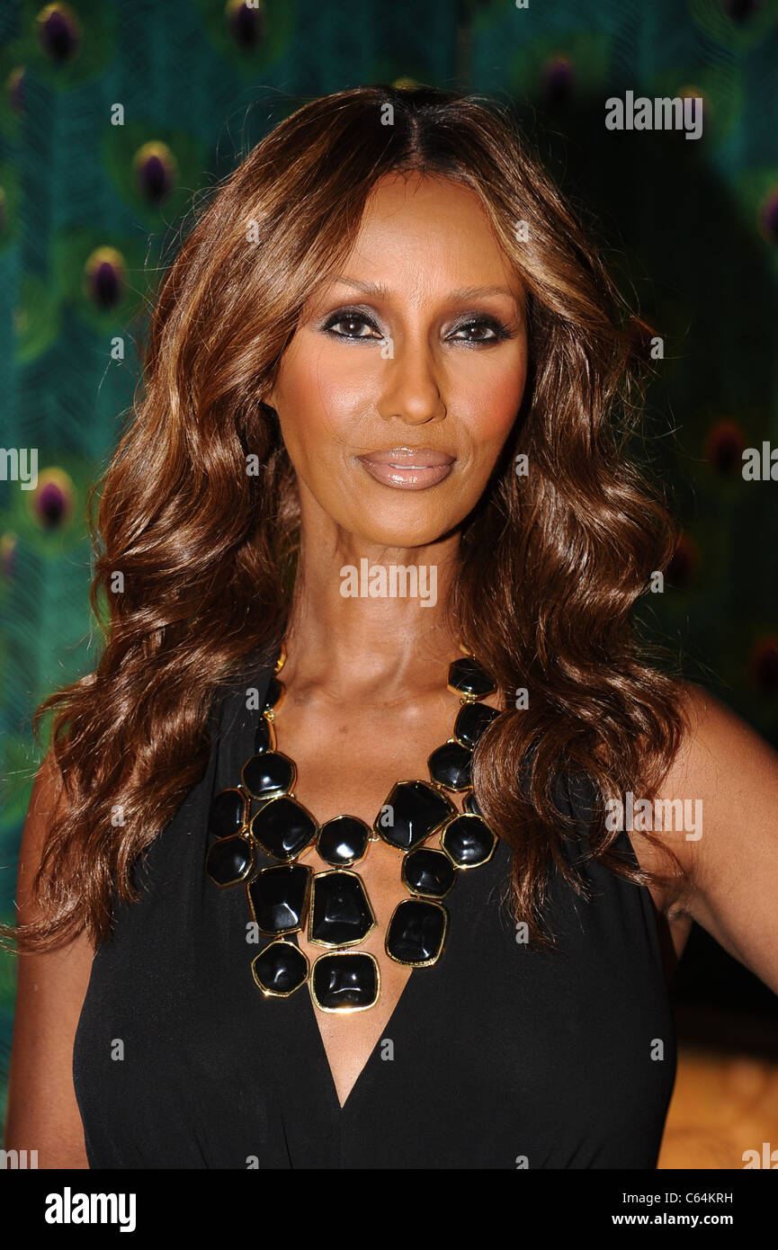 Iman out and about for Mercedes-Benz Fashion Week Candids - THU, Lincoln Center, New York, NY September 9, 2010. Stock Photo