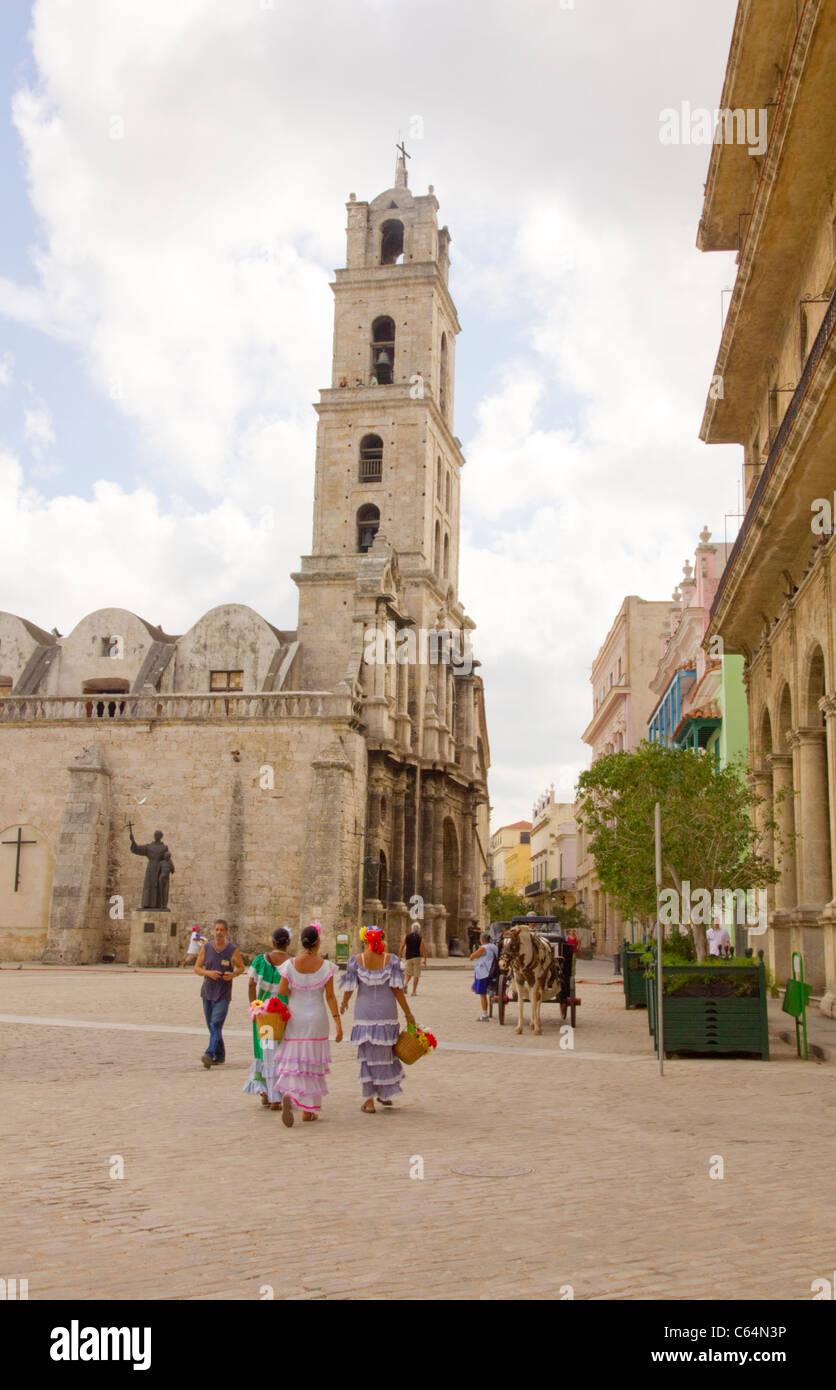 Street scene Havanna, Cuba Stock Photo