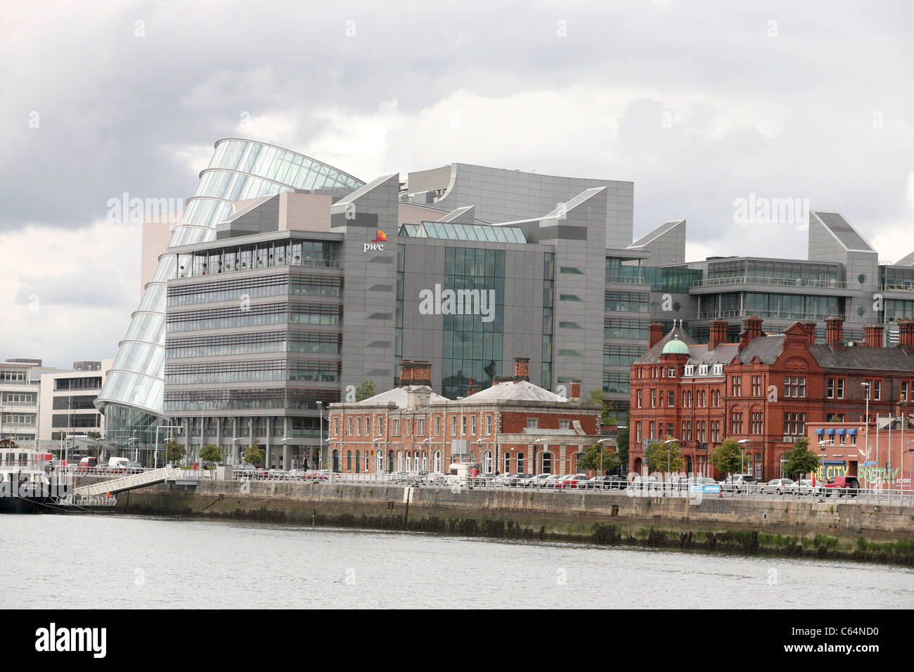 CCD and PWC building on the north wall Quay in Dublin - Stock Image