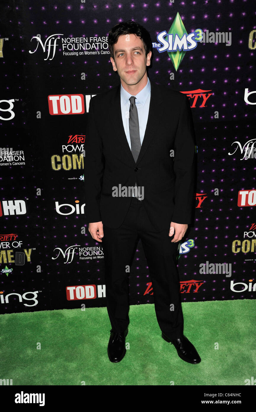 B J Novak in attendance for Variety's 1st Annual Power of Comedy Event, Club Nokia, Los Angeles, CA December - Stock Image