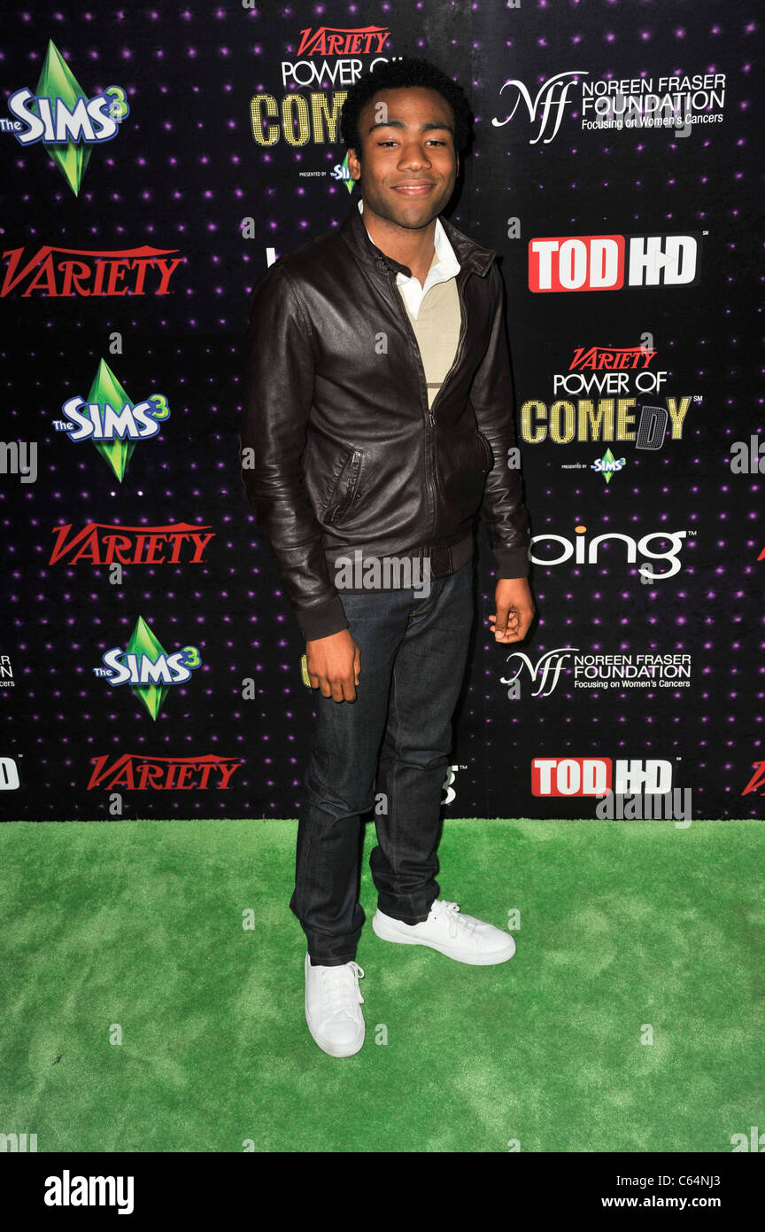 Donald Glover in attendance for Variety's 1st Annual Power of Comedy Event, Club Nokia, Los Angeles, CA December - Stock Image