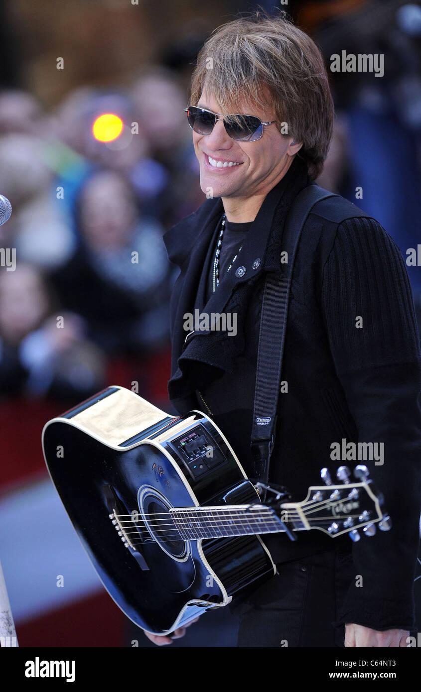 Jon Bon Jovi on stage for NBC Today Show Concert with Bon