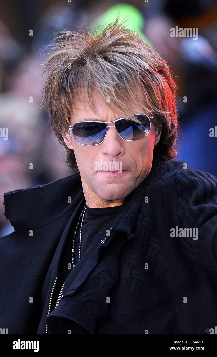 Jon Bon Jovi on stage for NBC Today Show Concert with Bon Jovi Stock