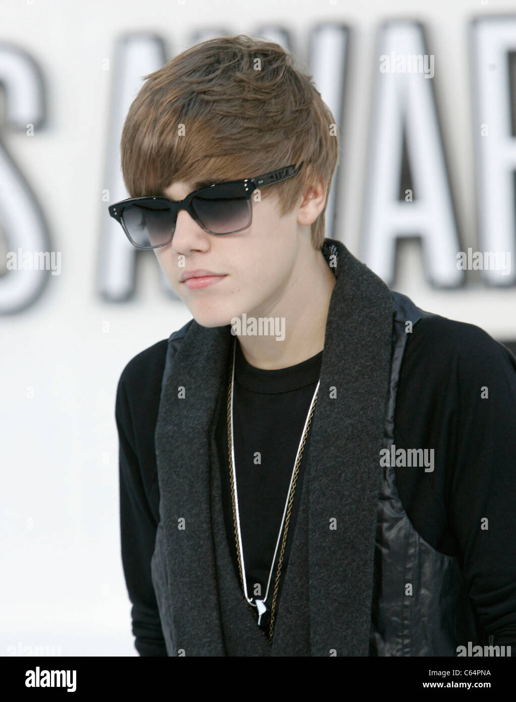 Justin Bieber at arrivals for 2010 MTV Video Music Awards VMA's - ARRIVALS - NO U.S. PRINT USAGE UNTIL 9/16/2010, - Stock Image