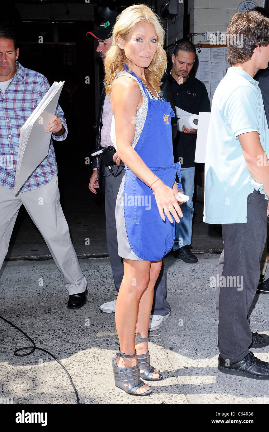 Television personality Kelly Ripa, tapes a segment at the ABC Lincoln Center Studios out and about for CELEBRITY - Stock Image