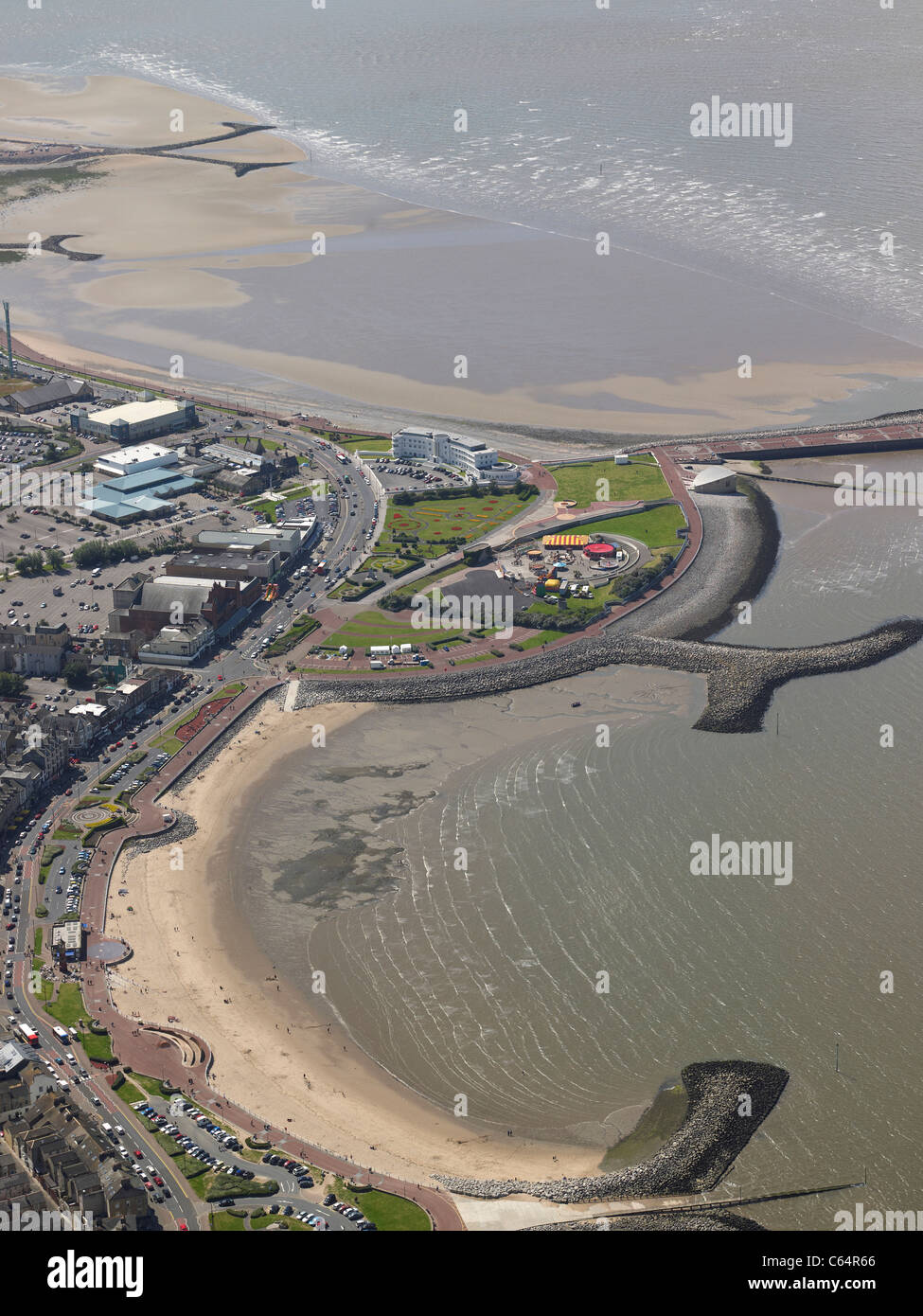 The seaside resort of Morcambe, Lancashire,North West England - Stock Image