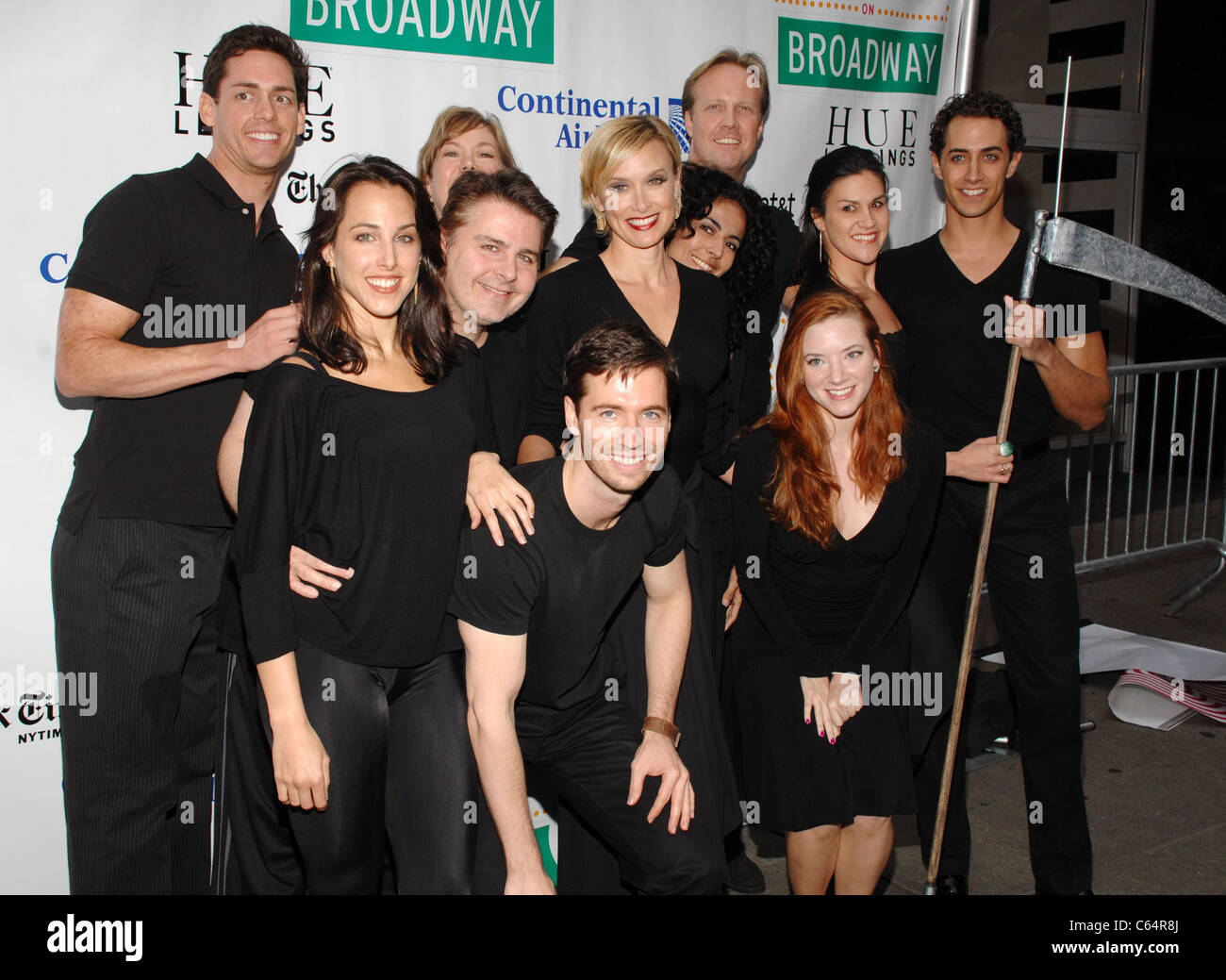 Cast members from The Adams Family in attendance for Broadway on Broadway 2010 Concert Kick-Off, Times Square, New - Stock Image