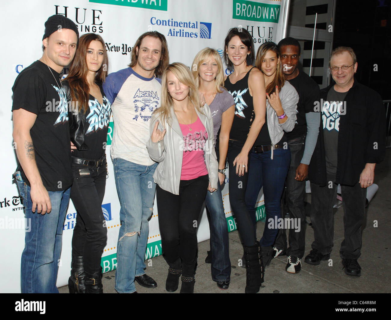 Cast members from Rock of Ages in attendance for Broadway on Broadway 2010 Concert Kick-Off, Times Square, New York, - Stock Image