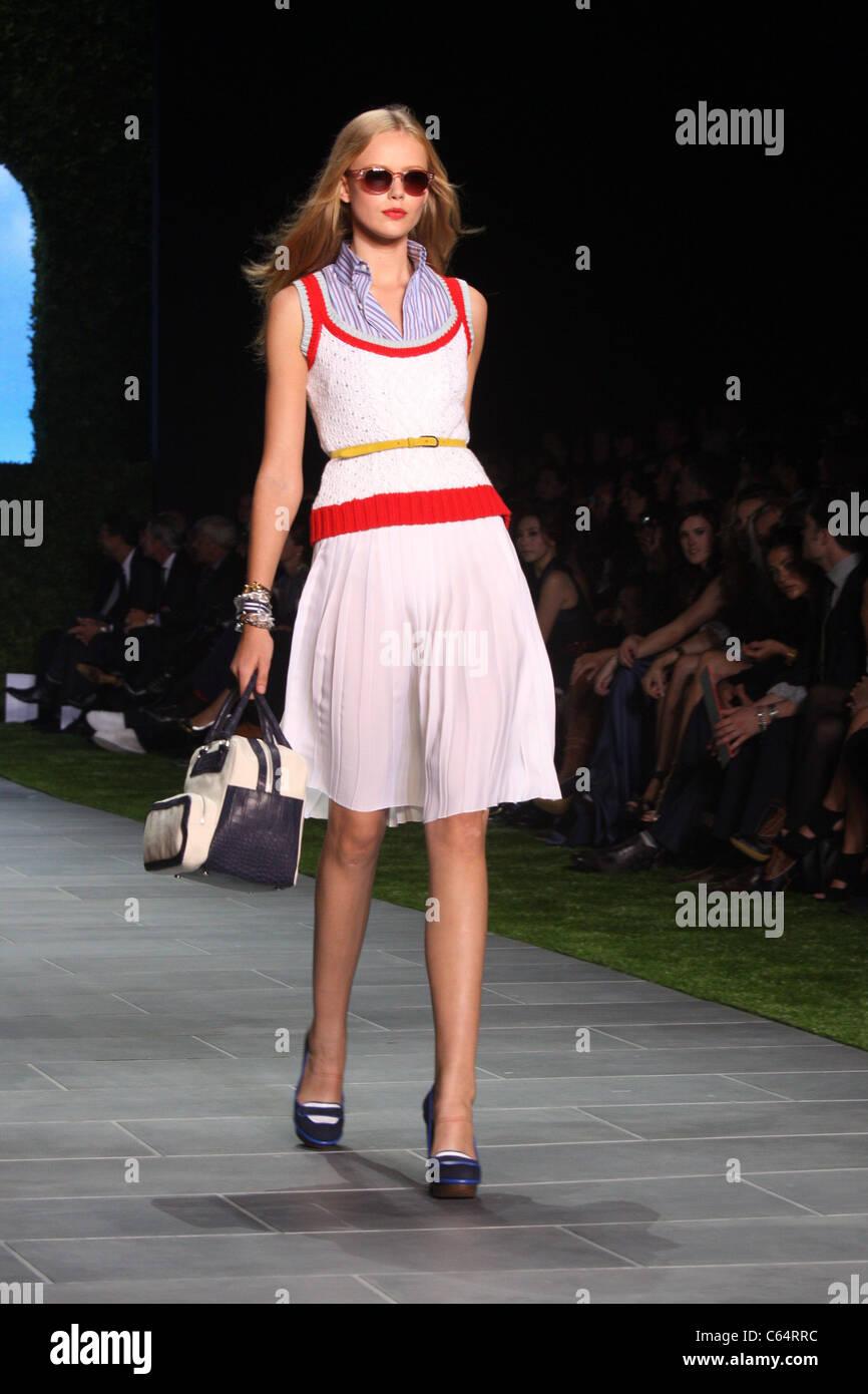 f5e6c49236e4d Model in attendance for Tommy Hilfiger Spring 2011 Fashion Presentation