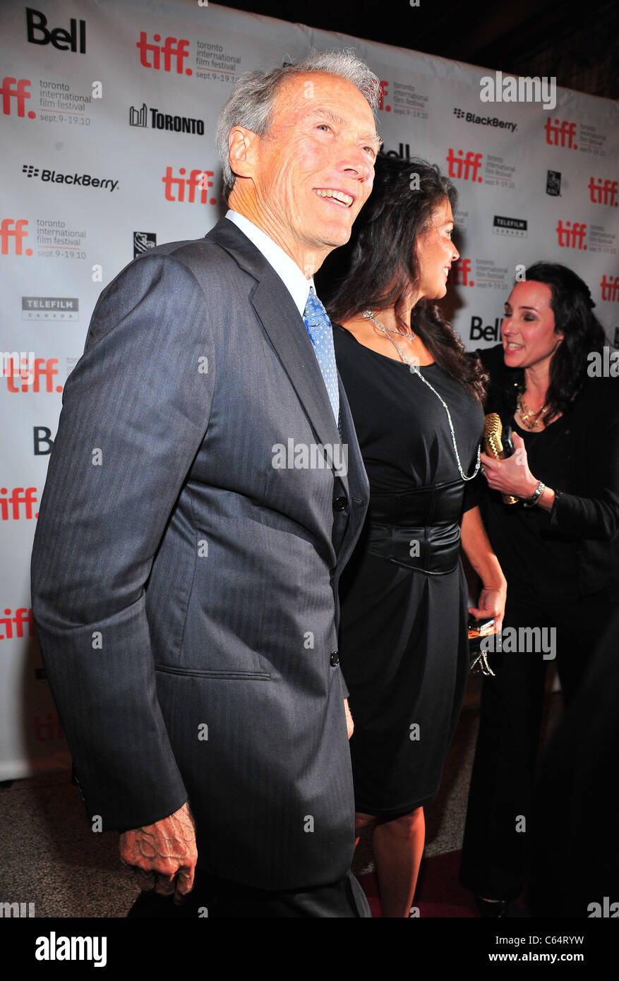 Clint Eastwood, Dina Eastwood at arrivals for HEREAFTER Premiere Screening at Toronto International Film Festival - Stock Image