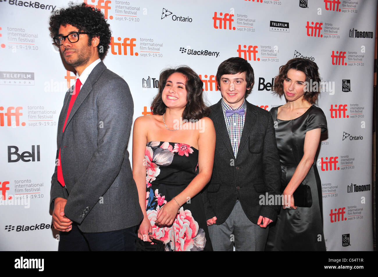 Richard Ayoade L Sally Hawkins Family At Arrivals For Submarine Stock Photo Alamy