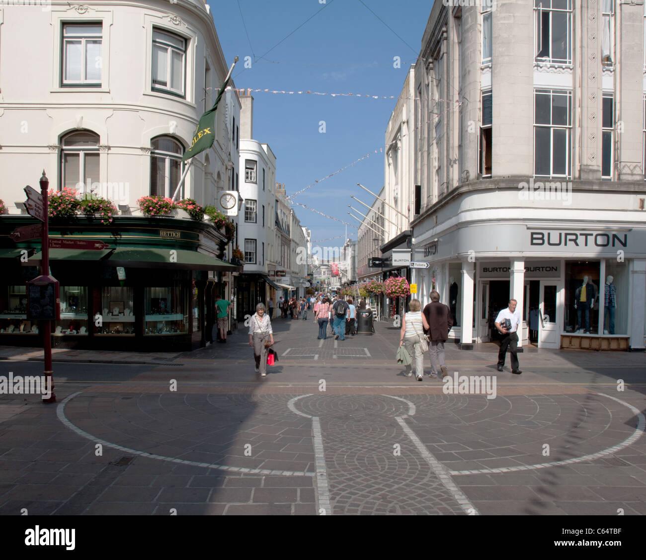 King Street, St Helier, Jersey - Stock Image