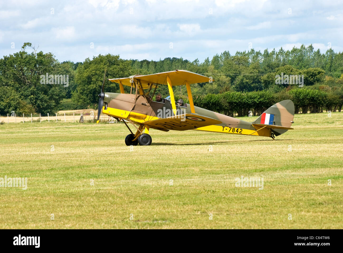 WW2 RAF Tiger Moth - Stock Image