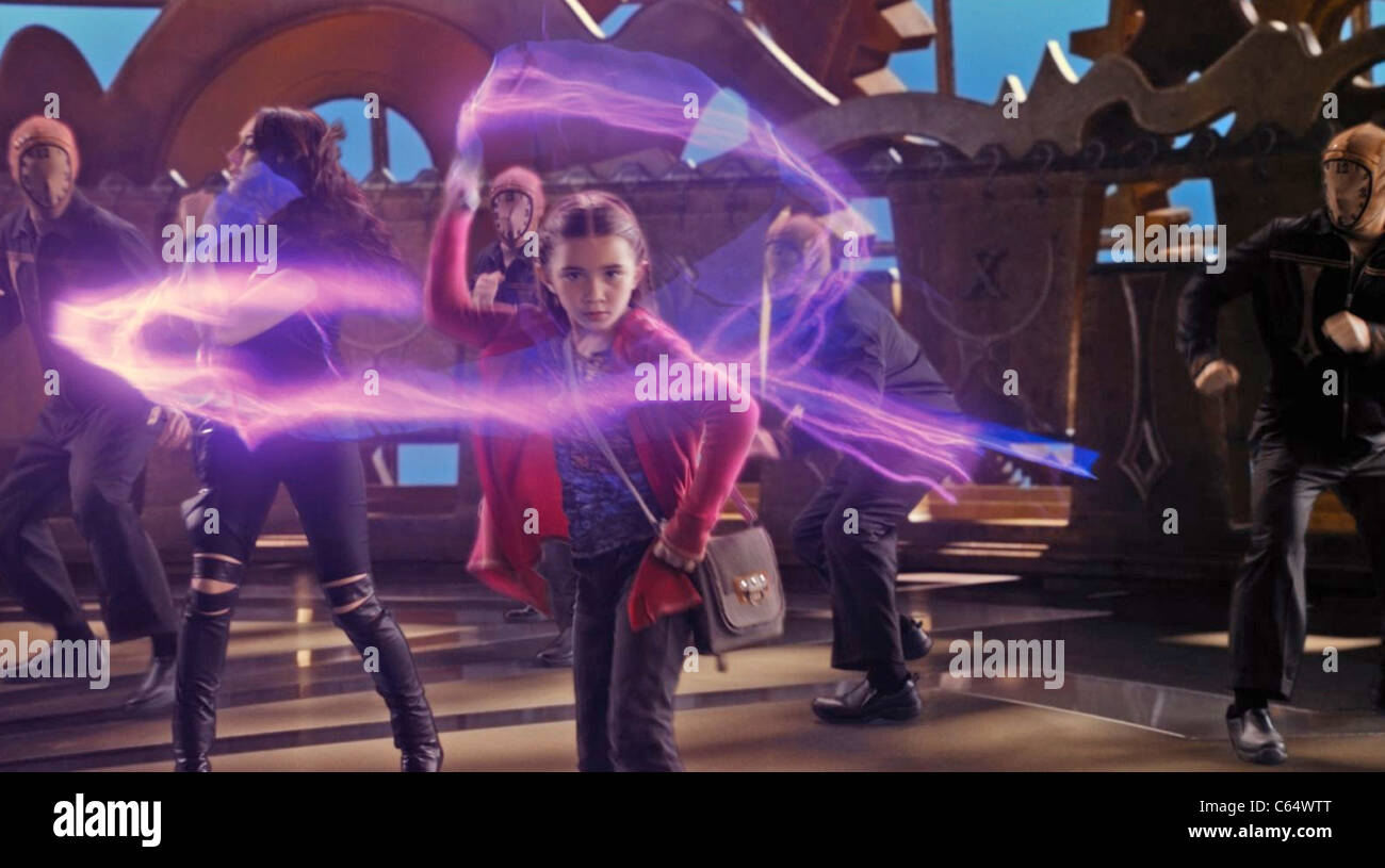 SPY KIDS : ALL THE TIME IN THE WORLD IN 4D - 2011 Dimensions Films production with Rowan Blanchard - Stock Image