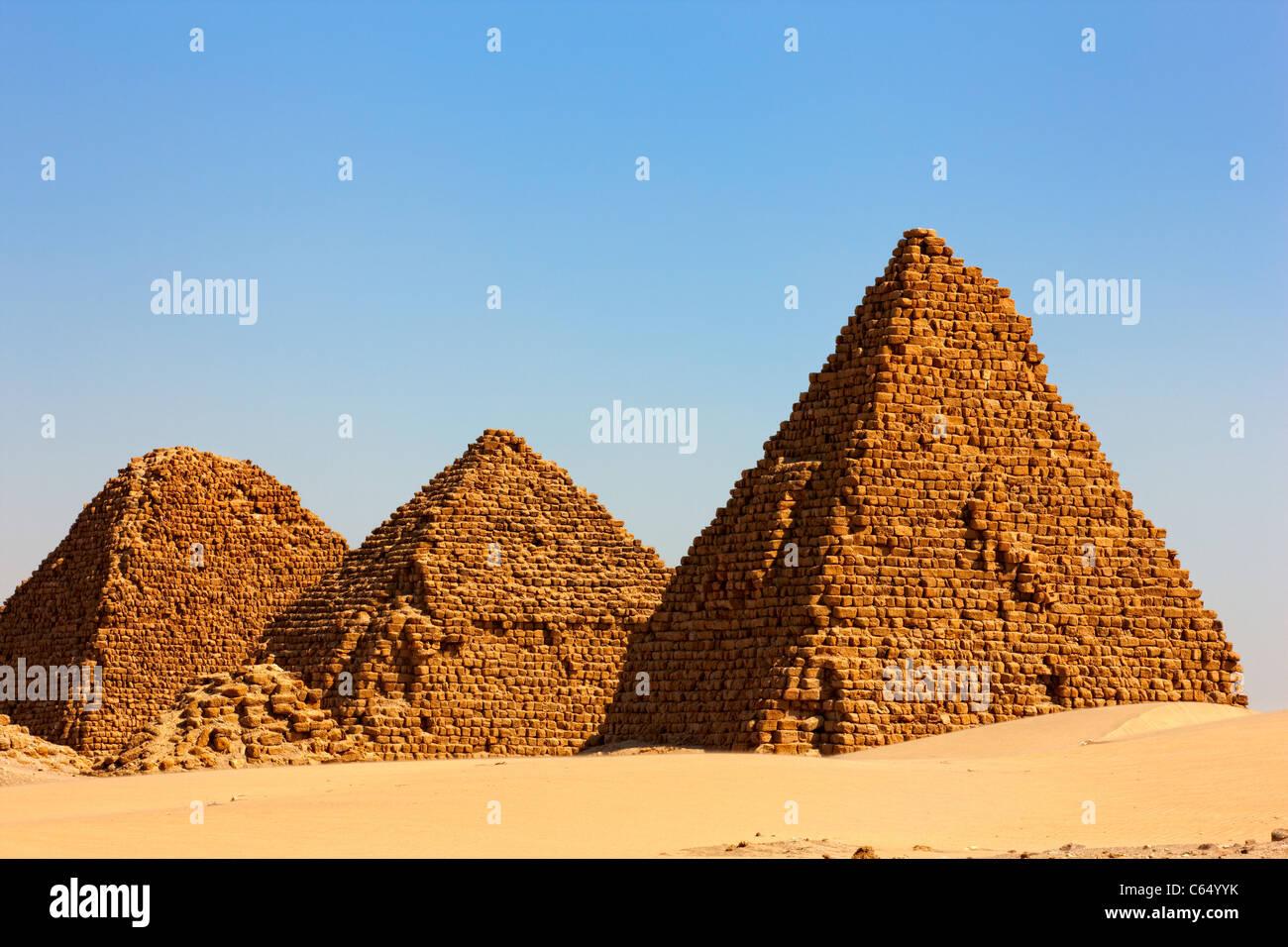 The Pyramids at Nuri, Northern Sudan, Africa Stock Photo