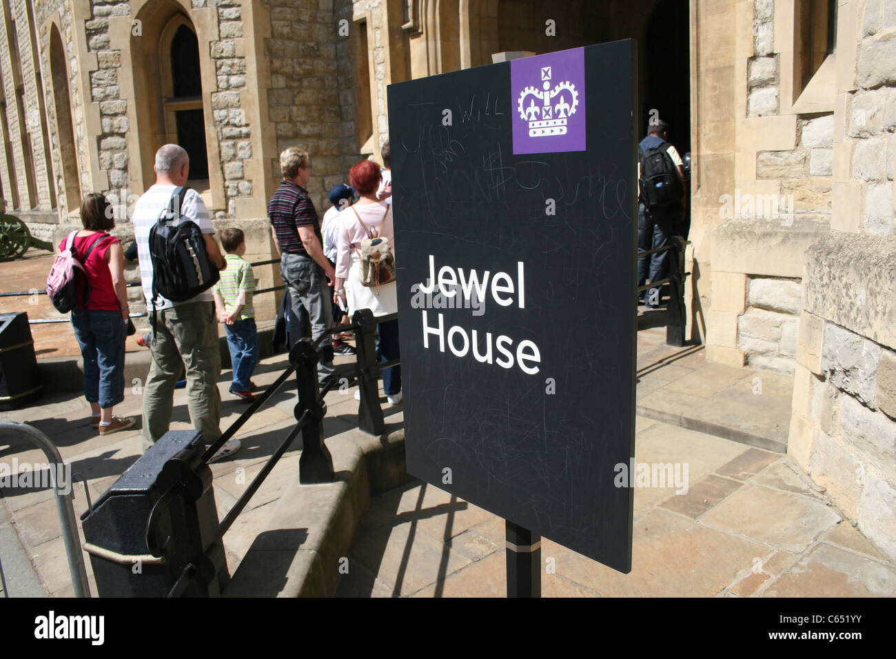 TOWER OF LONDON JEWEL HOUSE - Stock Image
