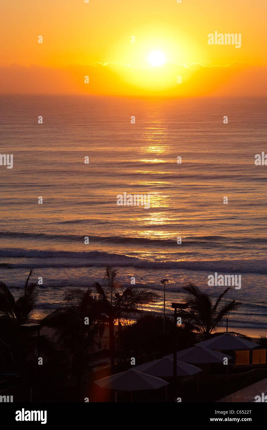 Gold Coast Australia sunrise - Stock Image