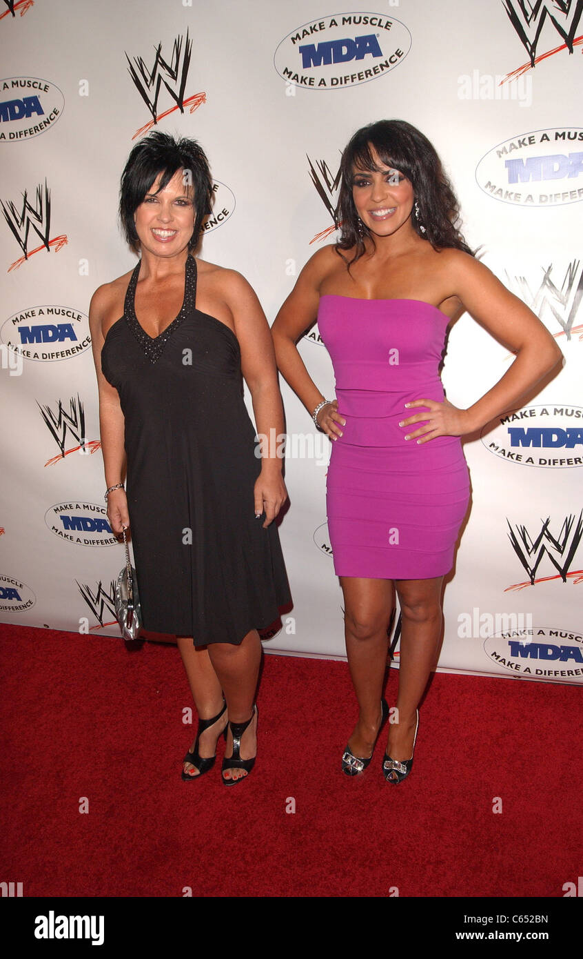 Wwe Divas Layla Guerrero Vickie Guerrero In Attendance For Wwe Summerslam Kick Off Party To Benefit The Muscular Dystrophy Association Mda Tropicana Bar