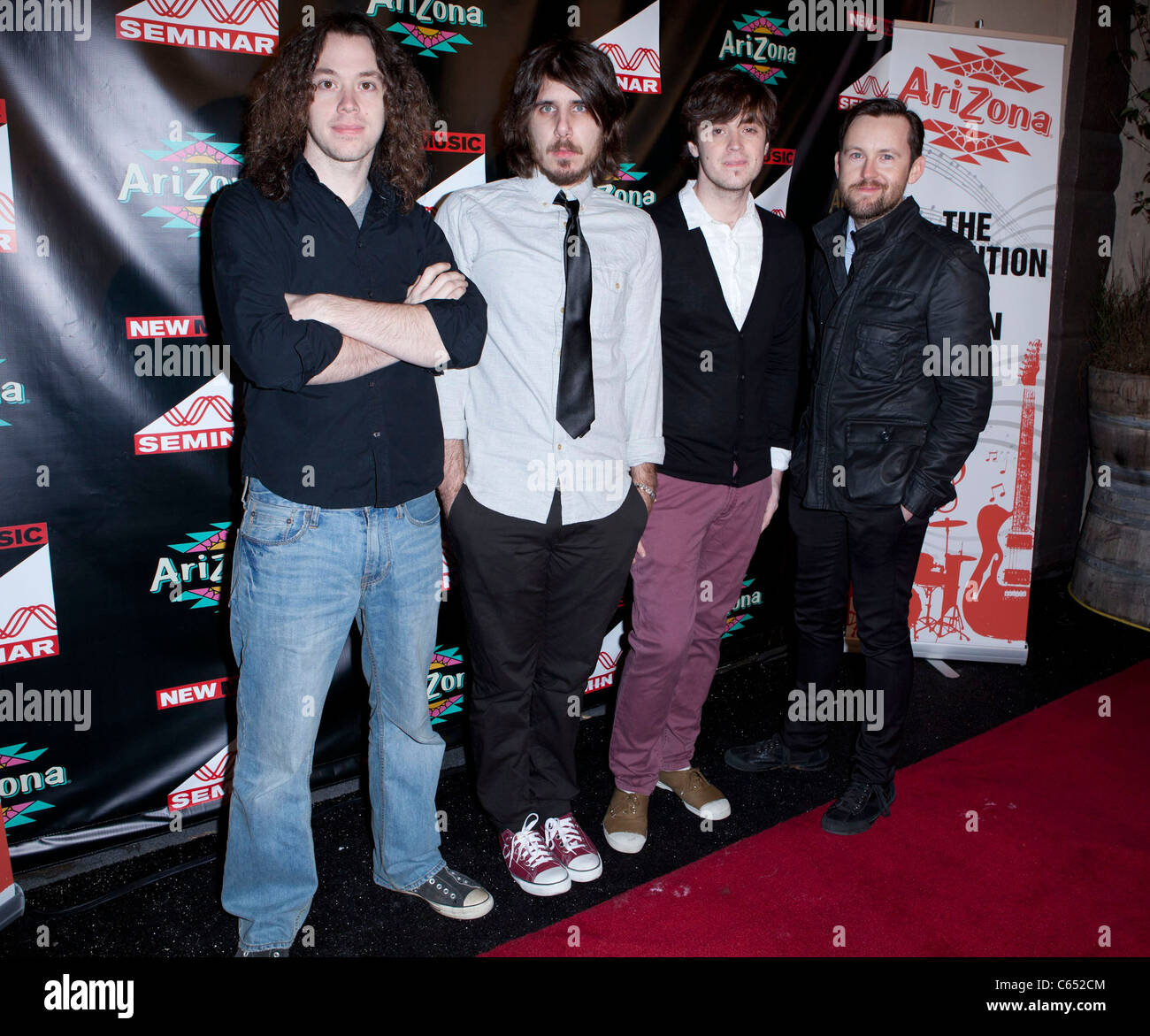 The Well Reds at arrivals for After Grammy Jammy Opening Night Party for the New Music Seminar Future of Music Conference, - Stock Image
