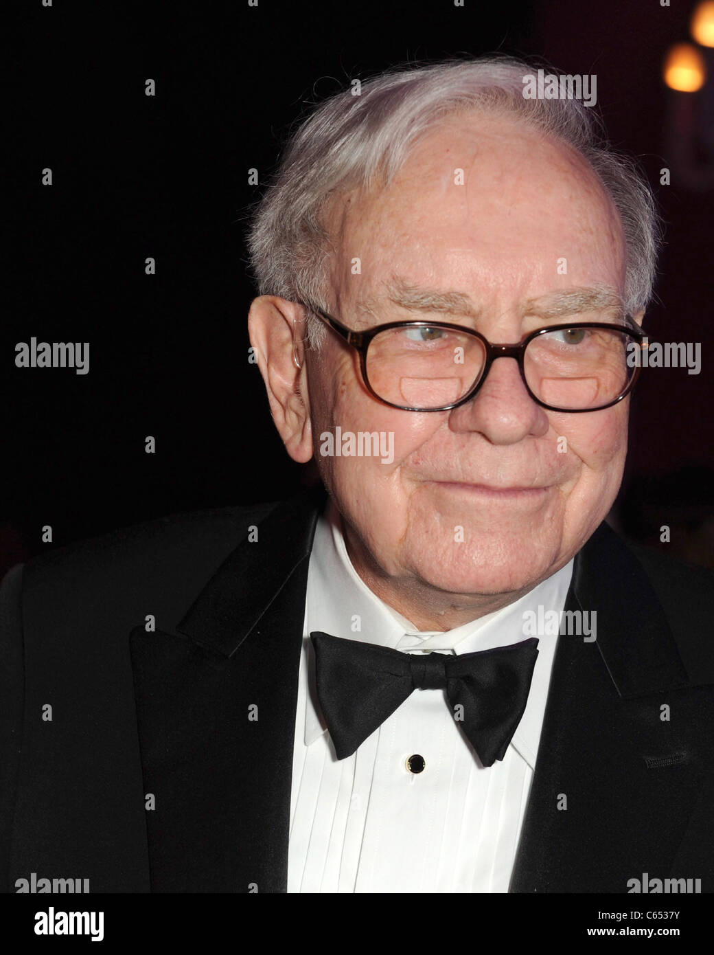 Warren Buffett in attendance for An Intimate Evening with David Foster and Friends, a private estate in Toronto, - Stock Image