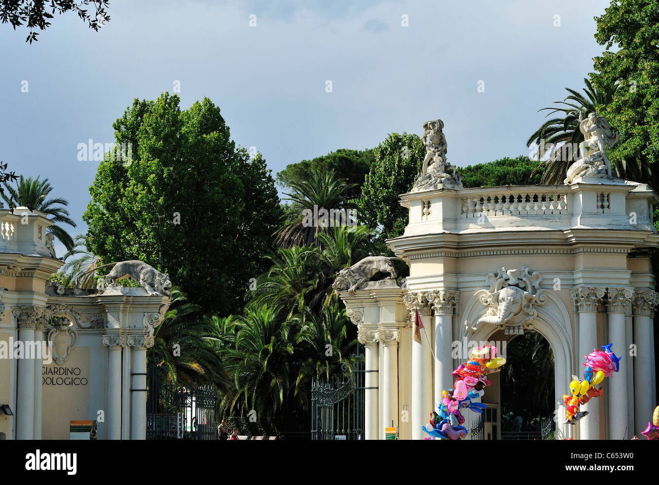 Rome. Italy. Entrance to the Bioparco Zoo in Villa