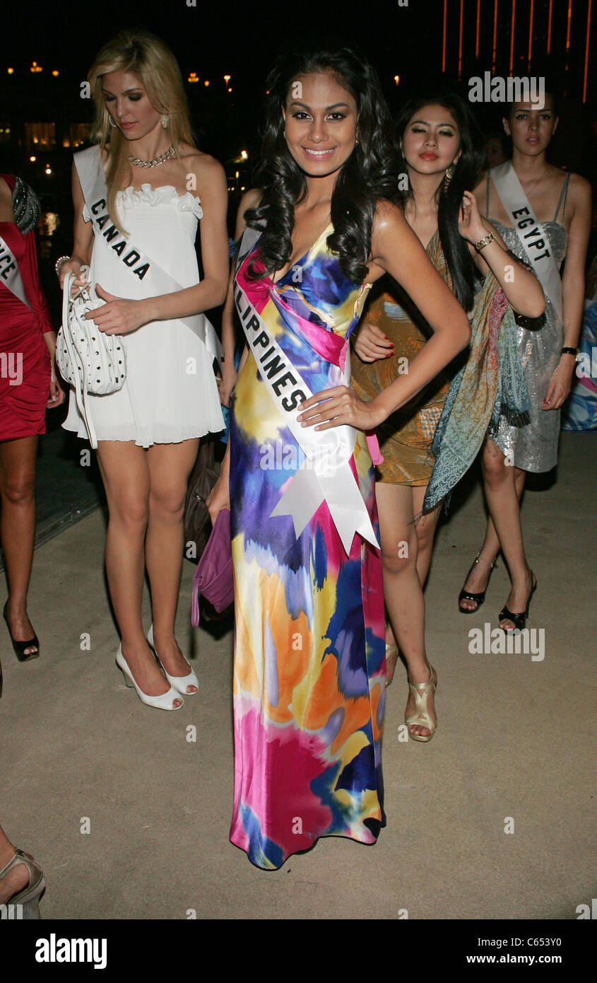 Venus Raj (Miss Philippines) at arrivals for Miss Universe Welcome Event, Mandalay Bay Resort & Hotel, Las Vegas, - Stock Image