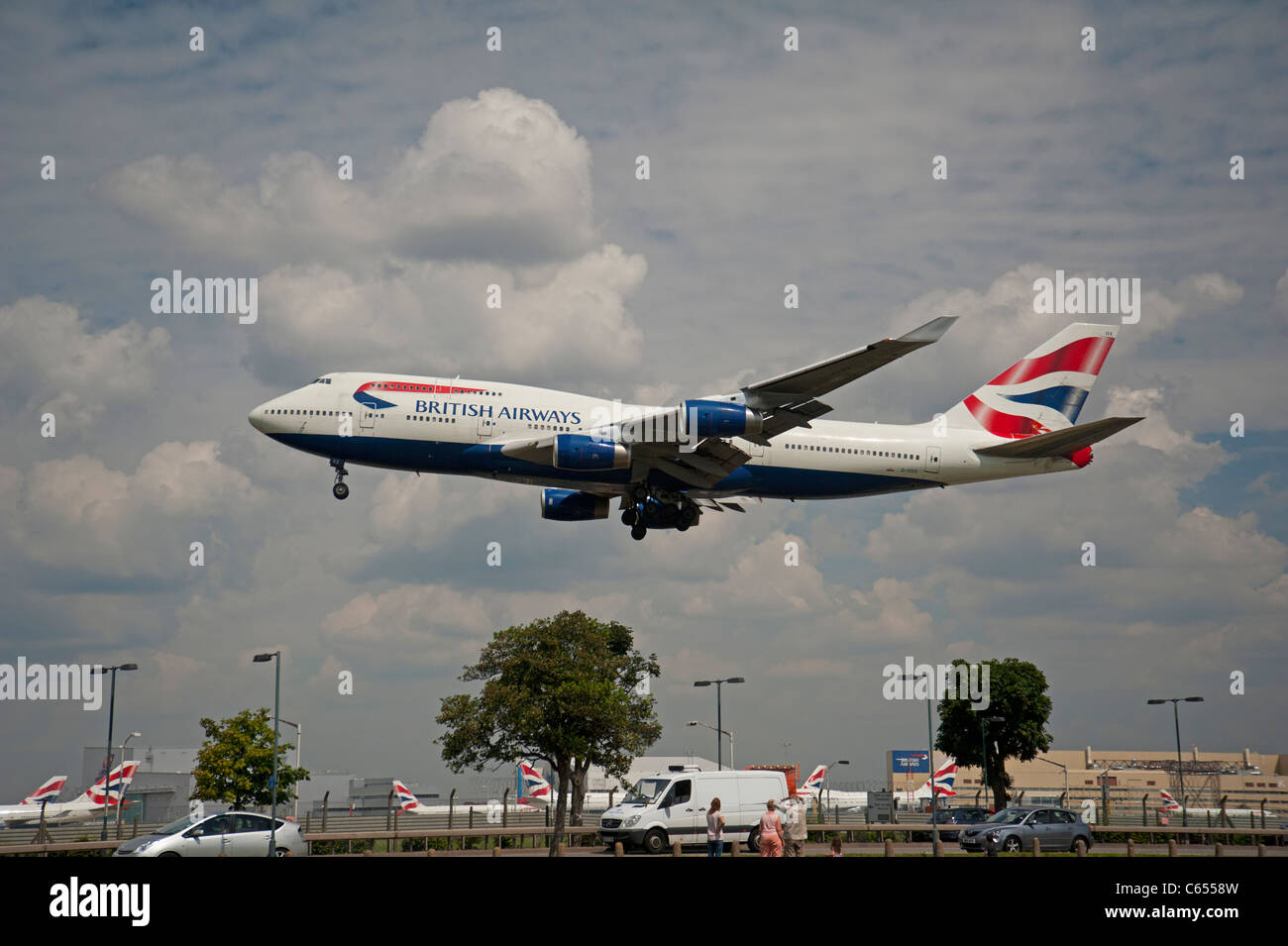 British Airways Boeing 747-436 Jet Airliner.  SCO 7580. - Stock Image