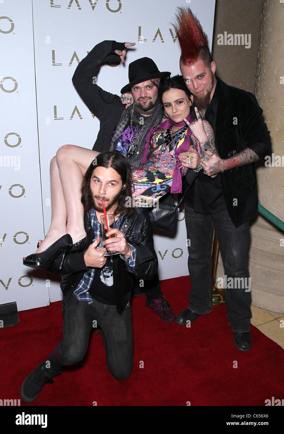 Bam Margera, Bianca Garozzo, guests in attendance for JACKASS 3D and 10 Years of Stupid Book Party, LAVO Restaurant - Stock Image