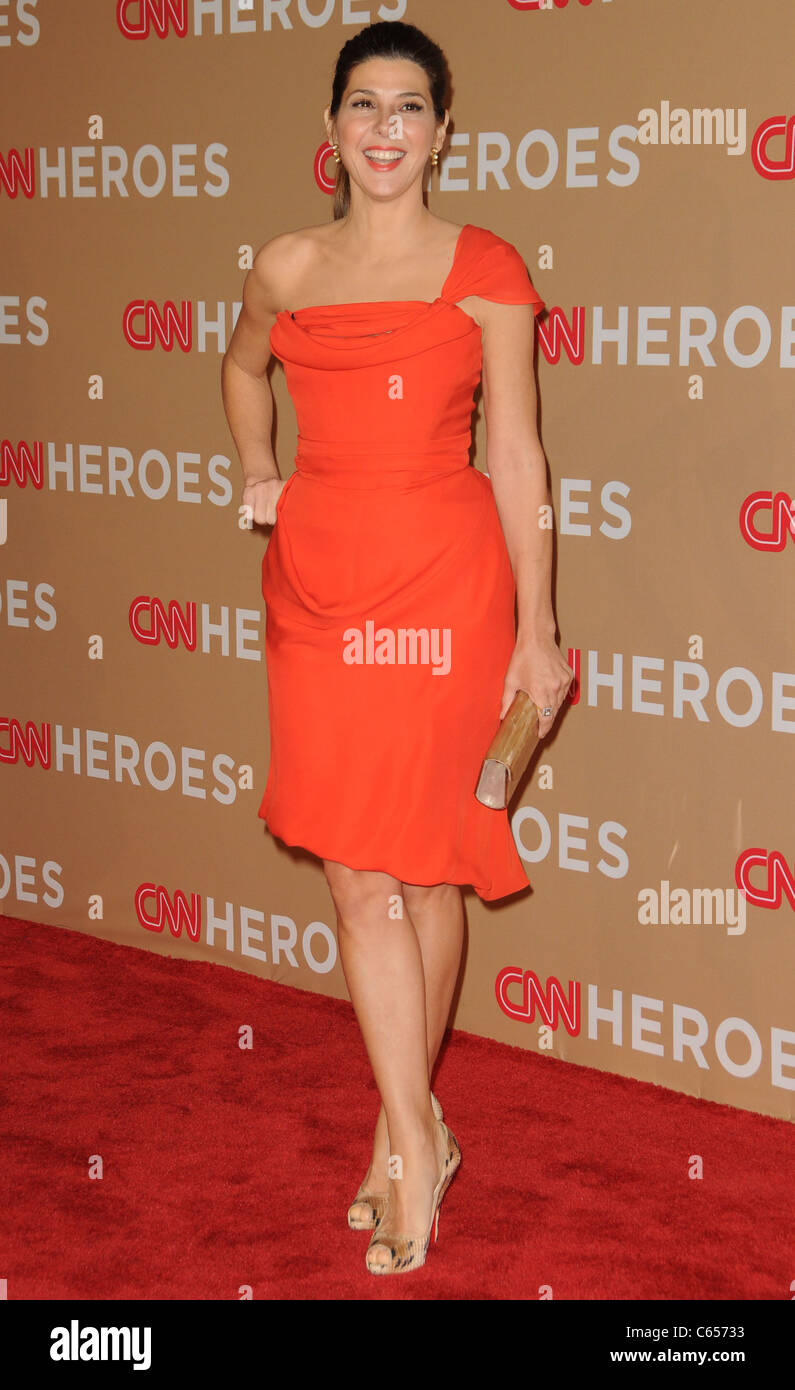 Marisa Tomei at arrivals for CNN HEROES: An All-Star Tribute, Shrine Auditorium, Los Angeles, CA November 20, 2010. - Stock Image