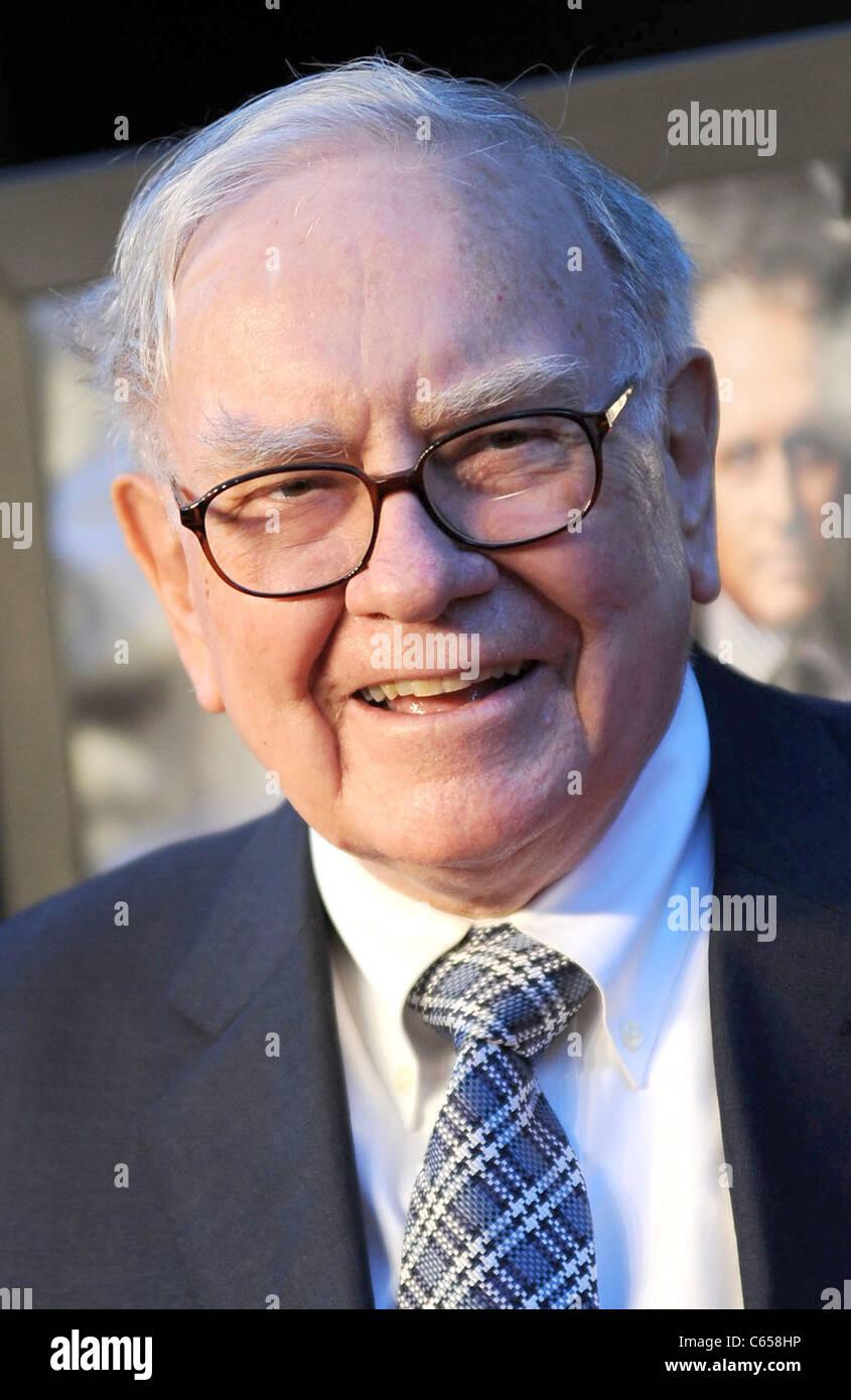 Warren Buffett at arrivals for Wall Street 2: Money Never Sleeps Premiere, The Ziegfeld Theatre, New York, NY September - Stock Image