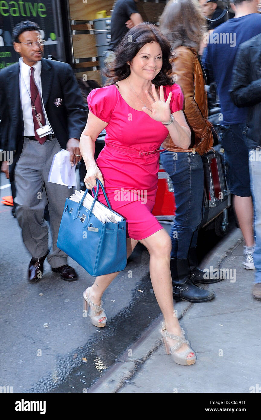 Valerie Bertinelli, enters the 'Good Morning America' taping at the ABC Times Square Studios out and about - Stock Image
