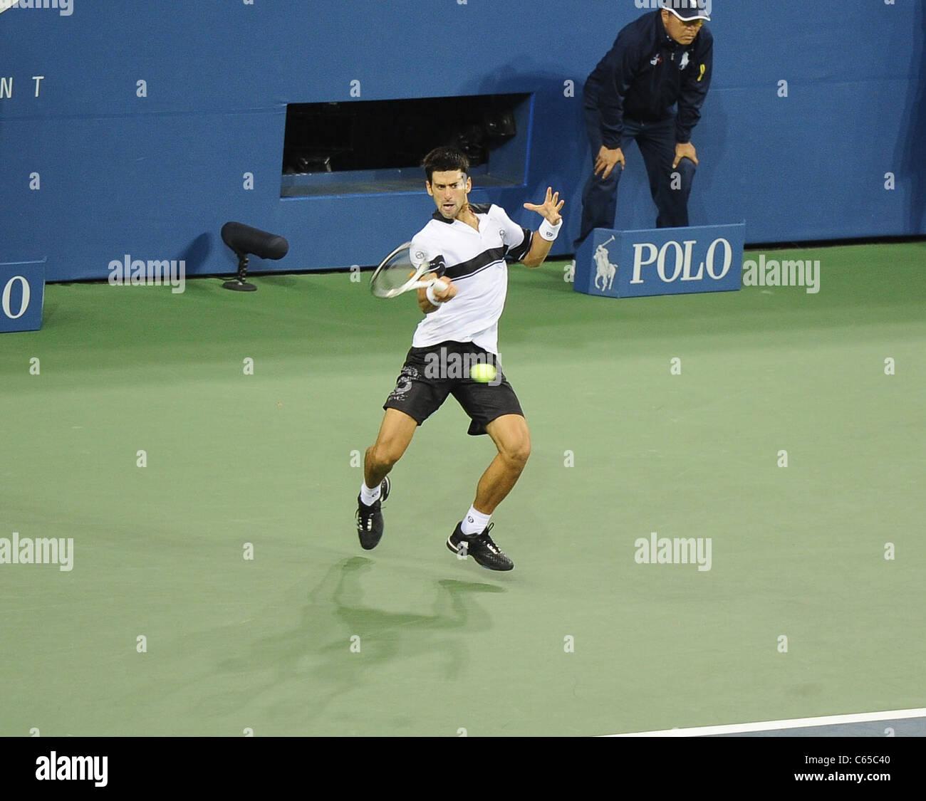 Novak Djokovic in attendance for US Open 2010 Tennis Tournament Men's Singles Finals Match, Arthur Ashe Stadium, - Stock Image