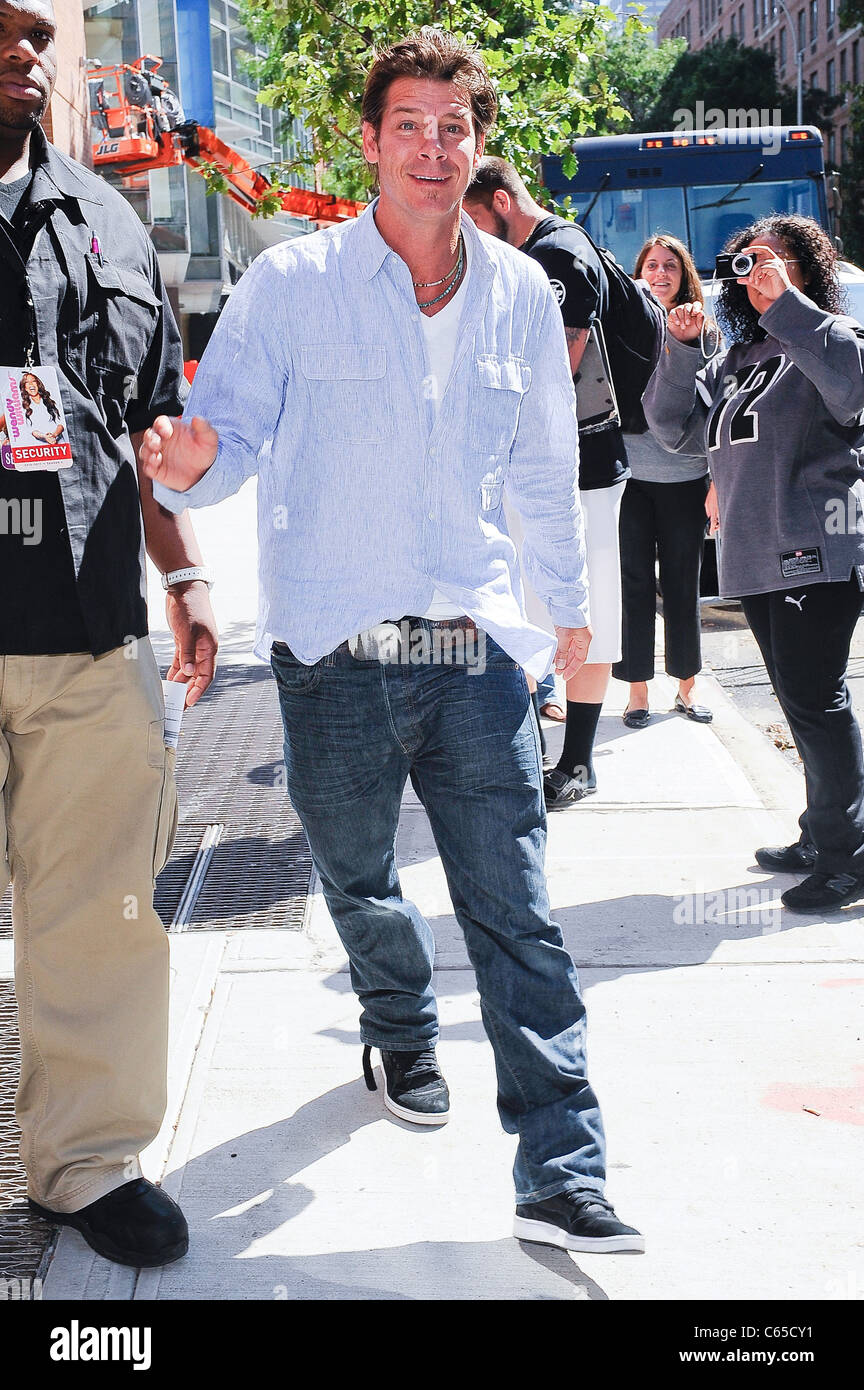 Television personality Ty Pennington, visits the 'Wendy Williams Show' taping at AMV Unitel Studios out and about Stock Photo