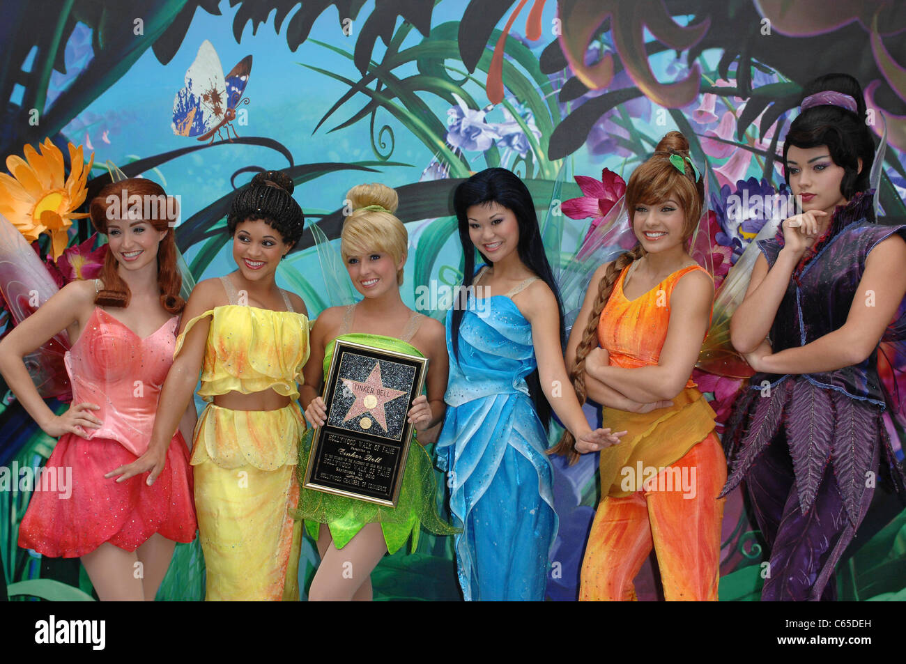 Tinker Bell, Fairies at the induction ceremony for Star on the Hollywood Walk of Fame Ceremony for Tinkerbell, Hollywood - Stock Image