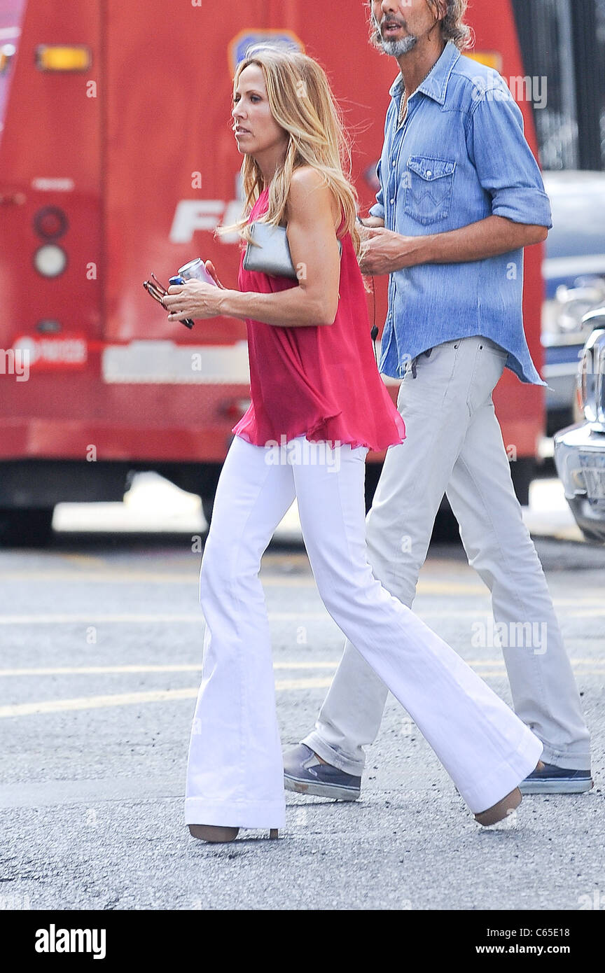 Sheryl Crow, walks in Greenwich Village out and about for CELEBRITY CANDIDS - THURSDAY, , New York, NY July 22, - Stock Image