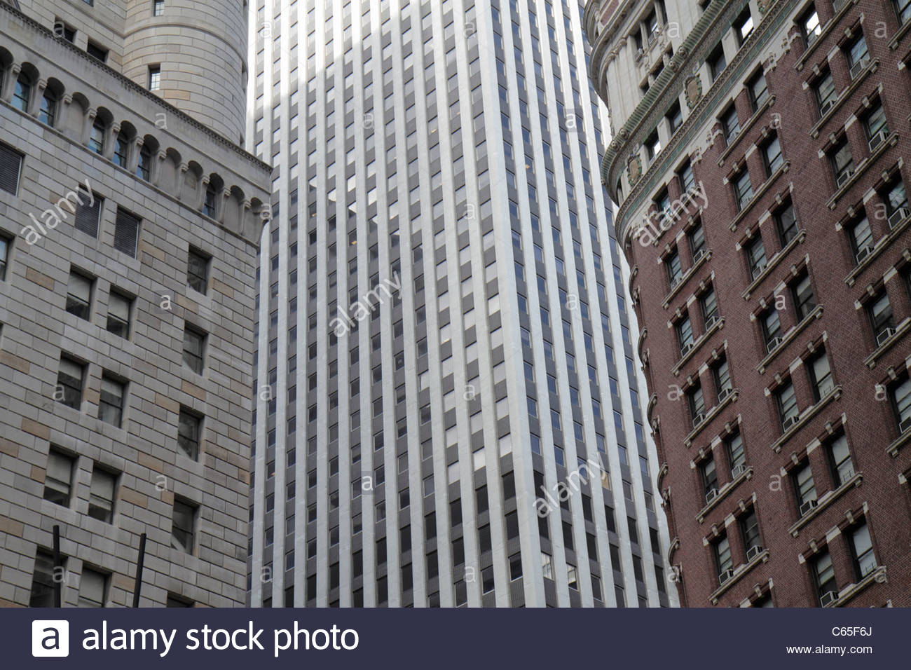 Lower Manhattan New York City Nyc Ny Financial District Fidi