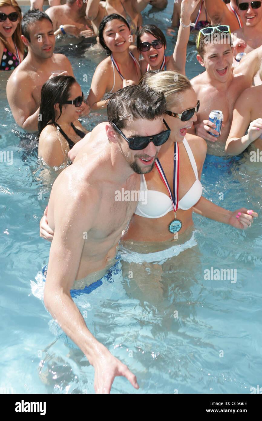 Michael Phelps in attendance for Encore Beach Club Season Opening, Encore Beach Club, Las Vegas, NV April 16, 2011. - Stock Image
