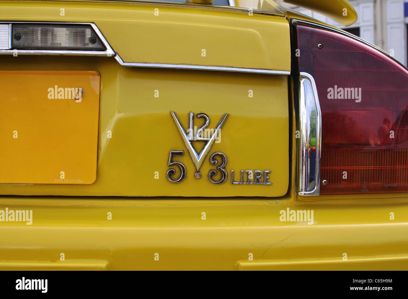 Jaguar XJS V12 5.3 litre - Stock Image